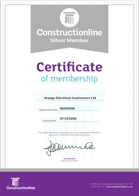 Construction line silver accreditation